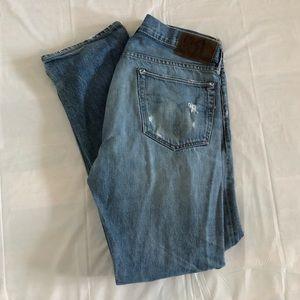 RRL Ralph Lauren Distressed Selvedge Denim Jeans